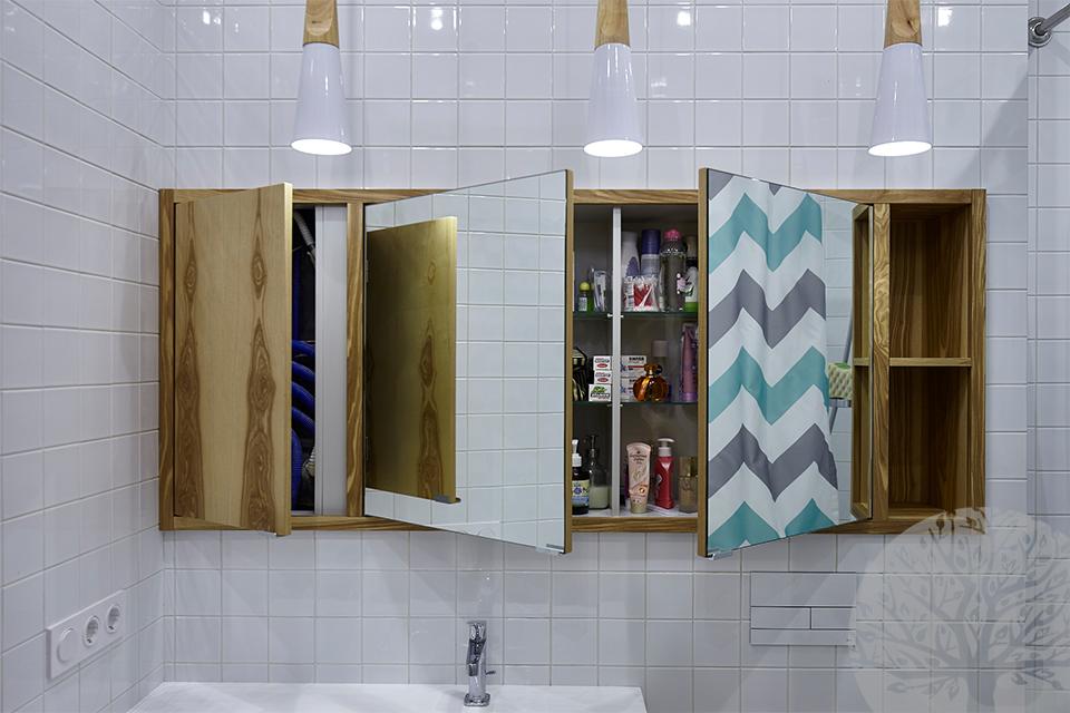Распашные зеркальные дверки